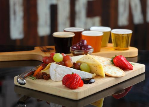 Beer Paddle Cheese Platter